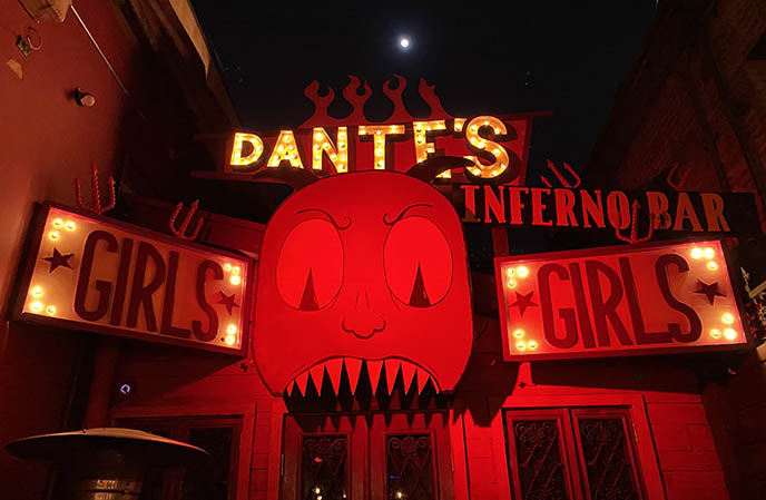 dante's interno bar, hollywood la theme bars goth