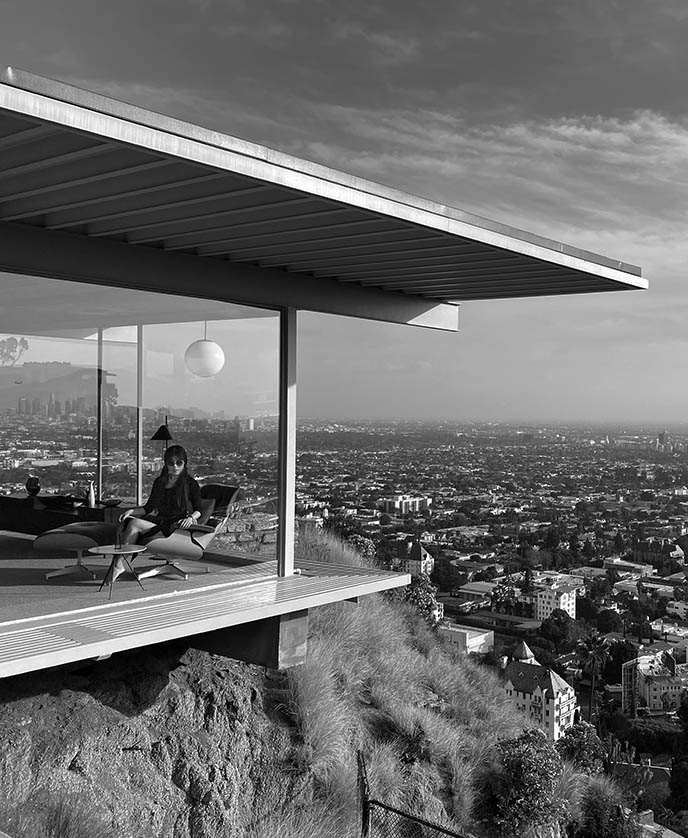 recreate julius shulman famous stahl house la photo