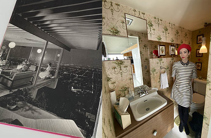 julius shulman famous modern architecture photo, stahl house bathroom