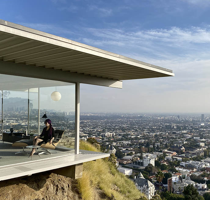 glass house overlooking los angeles, perre koenig case study architecture