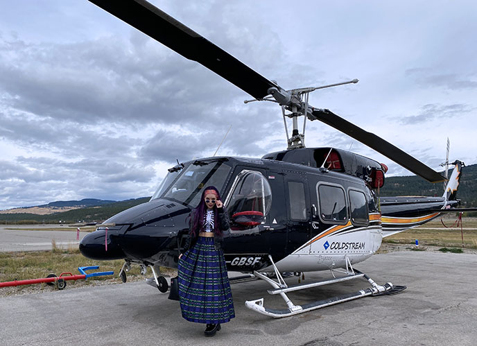 luxury helicopter tours kelowna coldstream