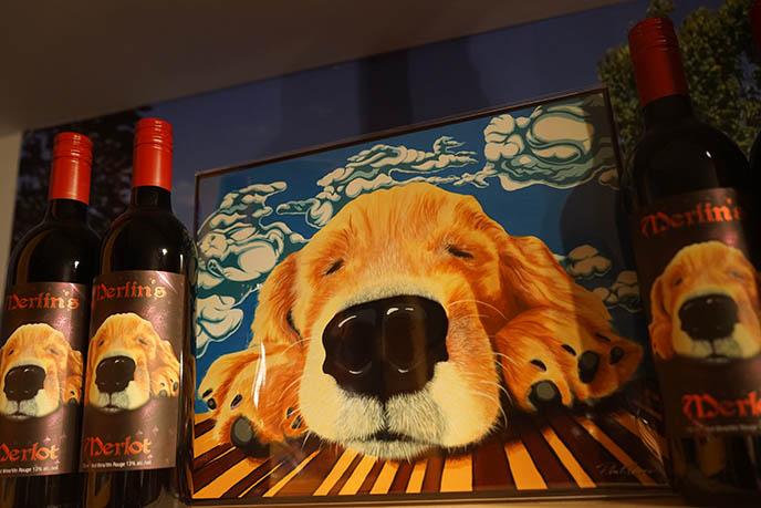 merlin's merlot phil lewis dog painting