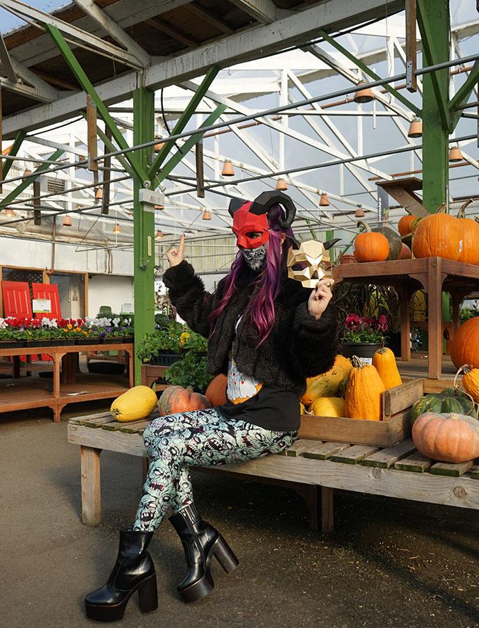 baphomet halloween costume satanic ritual outfits