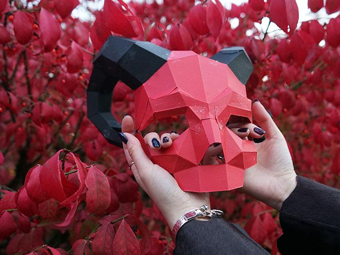 designer 3d geometric satanic devil lucifer mask satan