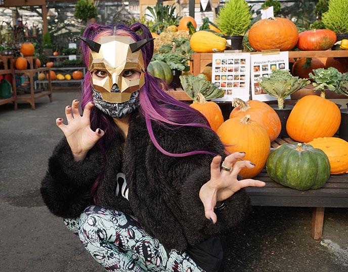goth gift guide, satan baphomet mask halloween