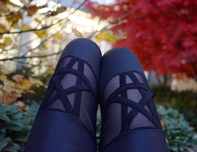 pentagram stars tights leggings black