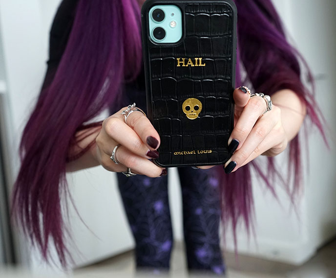 hail satan goth phone case iphone cases