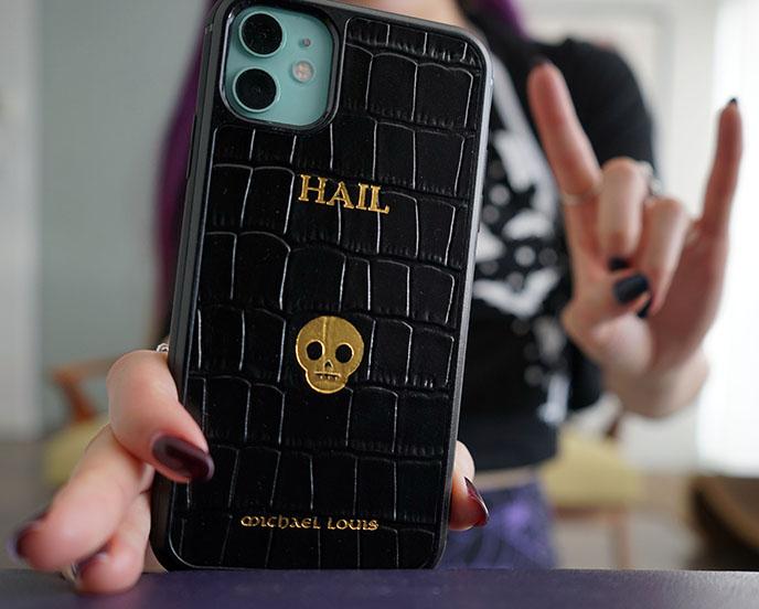 gothic smartphone case satanic devil skull