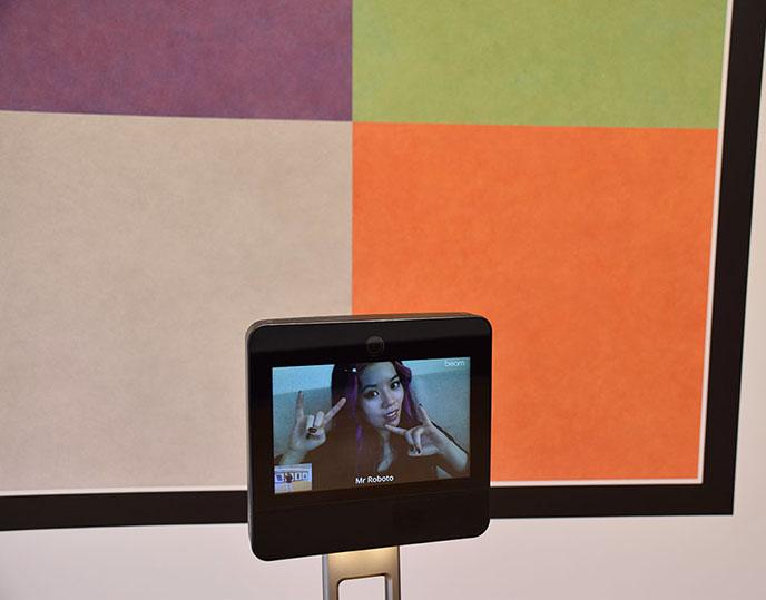 robot virtual telepresence art tours museums robots