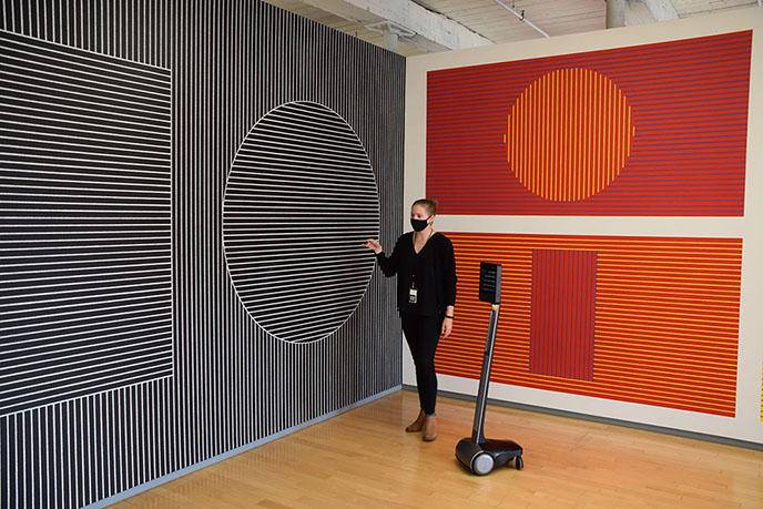 telepresence robot art tour mass moca