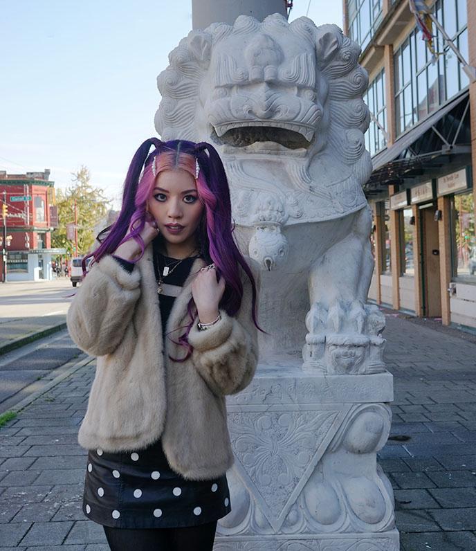 lion statues vancouver bc chinatown gate