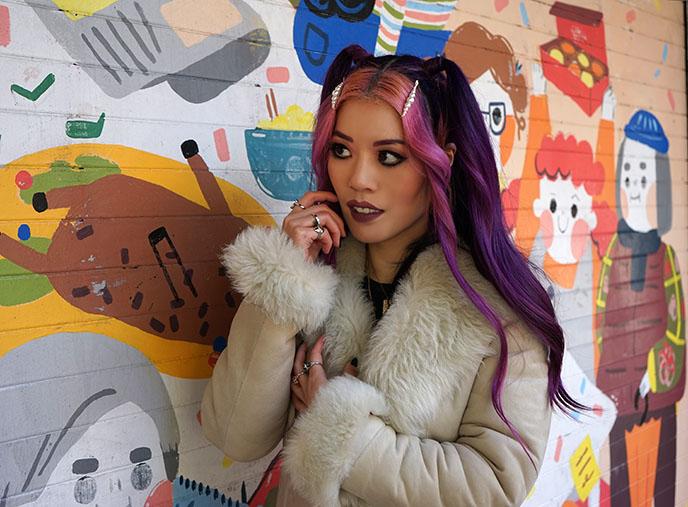 pink purple hair gothic japanese kawaii hairstyle