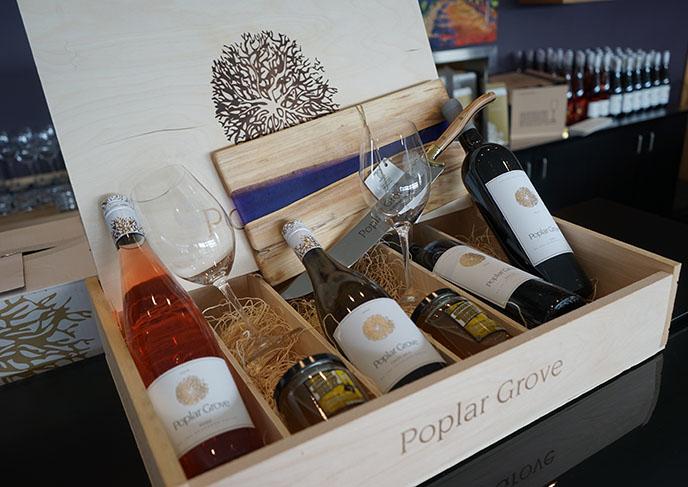poplar grove box of wines gifts