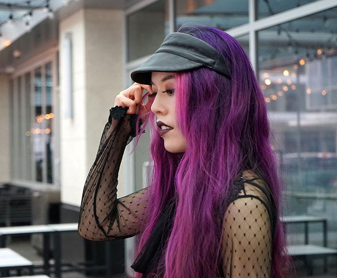 satanic temple model, fashion blogger satanist girl lavey