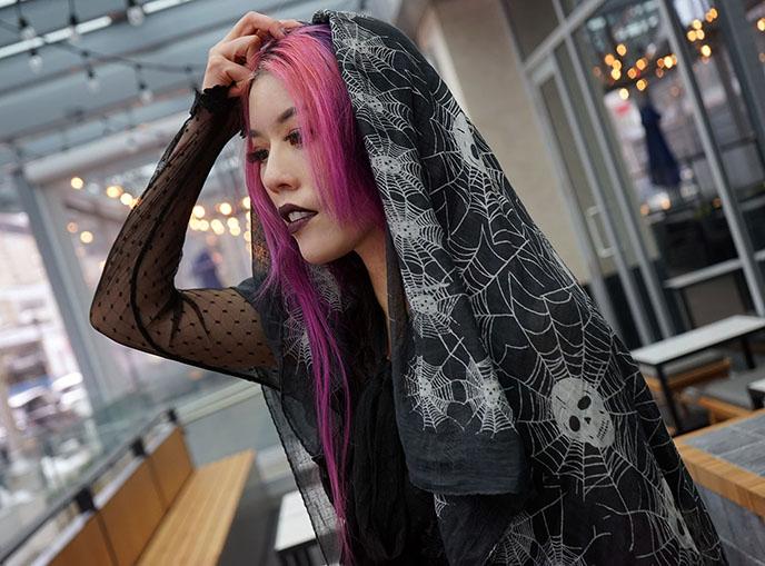 ️headscarf Gothic Clothing Occult Fashion satanic priestess black mass