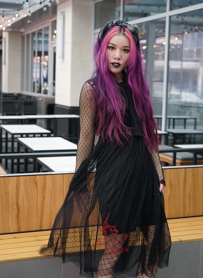 the apiologist gothic dress, alternative goth sustainable clothing