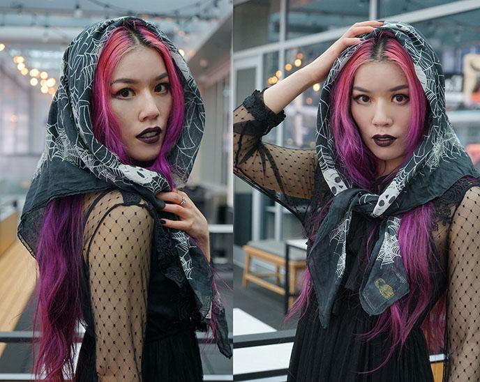 skull scarf goth accessories apiologist london clothing