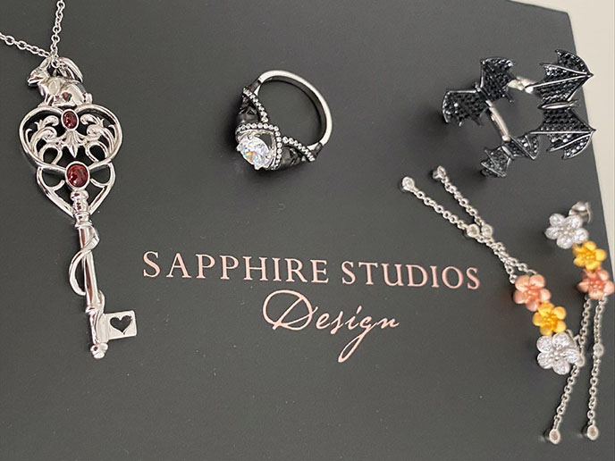 sapphire studios design jewellery box engagement goth rings