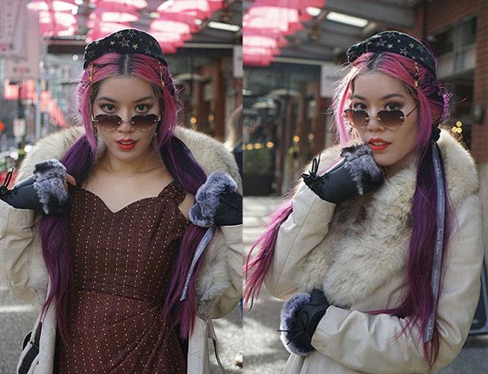 chloe rosie heart sunglasses, ains and elke vintage pin up dress