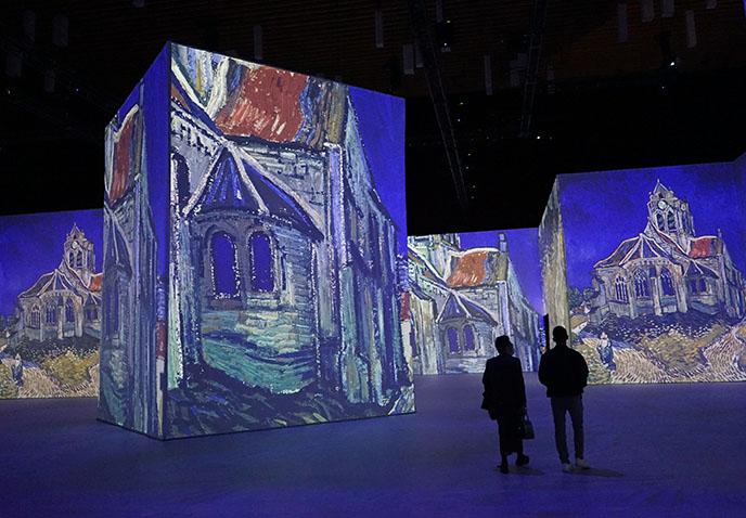 immersive van goth art exhibit installation vancouver