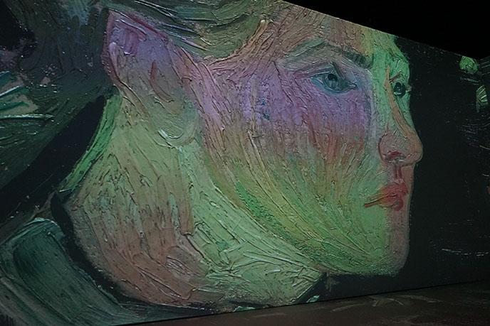 van gogh portrait woman face painting art