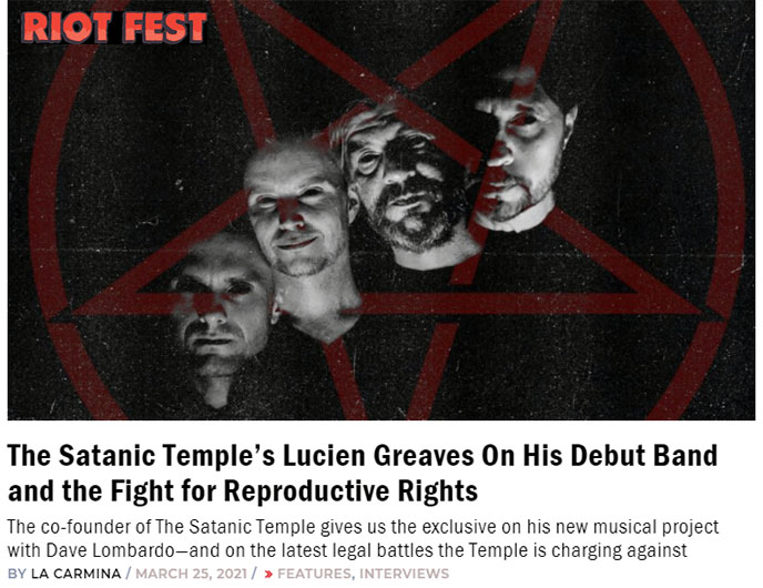 lucien greaves band satanic planet album tour interview satan music