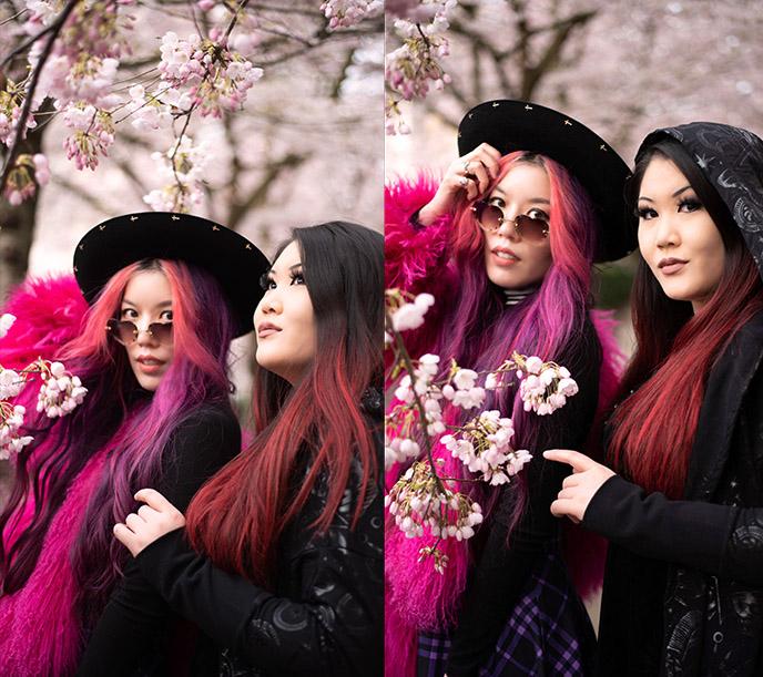 japanese goths cherry blossom festival sakura flowers