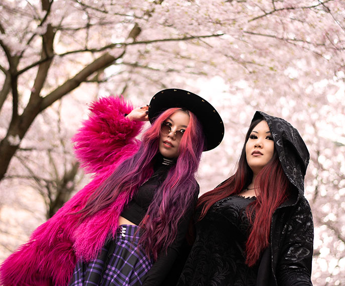 Soft Grunge, Nu Goth, Pastel goth, Egirl aesthetic alternative e-girl clothes