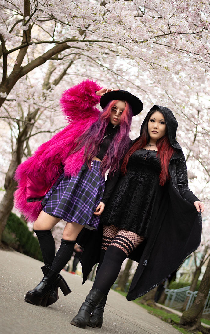 pastel goth fashion outfits grunge gothic women's clothing