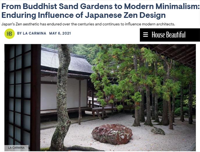 zen buddhism japanese design sand gardens japan minimalist architecture