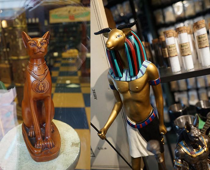 Khnum horned egyptian man god fertility
