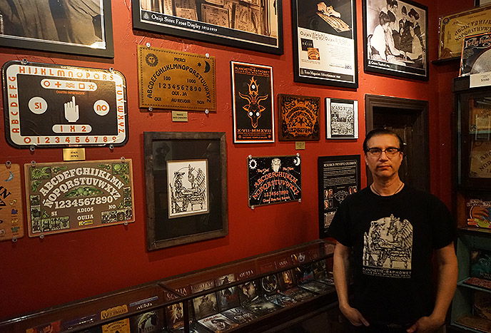the satanic temple ouija board art exhibit