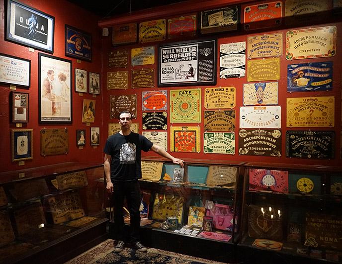 salem oujia John Kozik, witch board museum founder collector