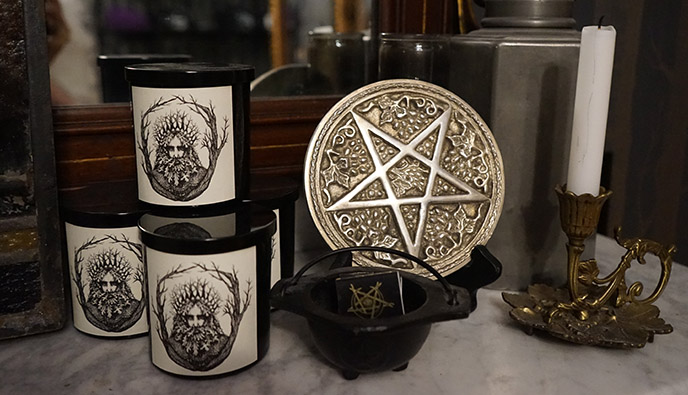 the satanic temple gift shop candles merchandise salem art gallery