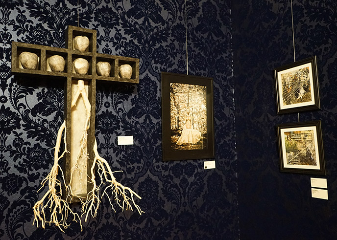 satanic cross art exhibit salem the satanic temple