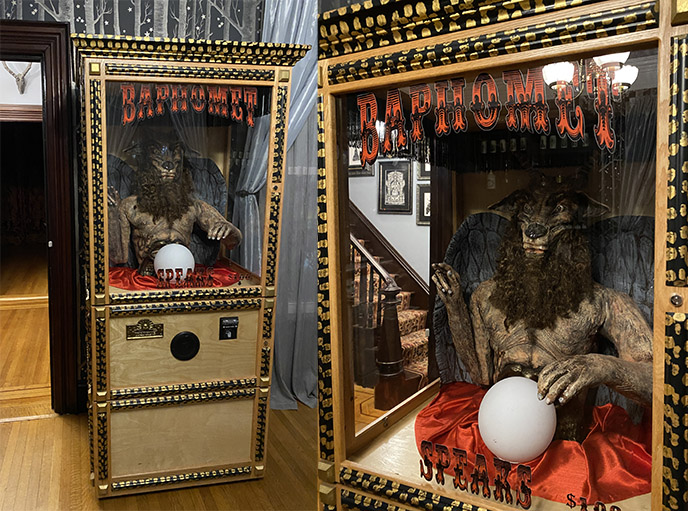 baphomet fortune teller machine game the satanic temple attractions