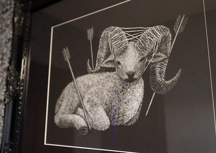 cute goat baphomet art kawaii satan