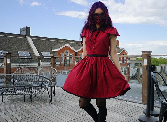 red gothic dress sourpuss clothing dresses