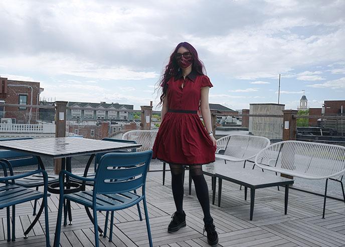 goth red mini dress gothic sourpuss clothing