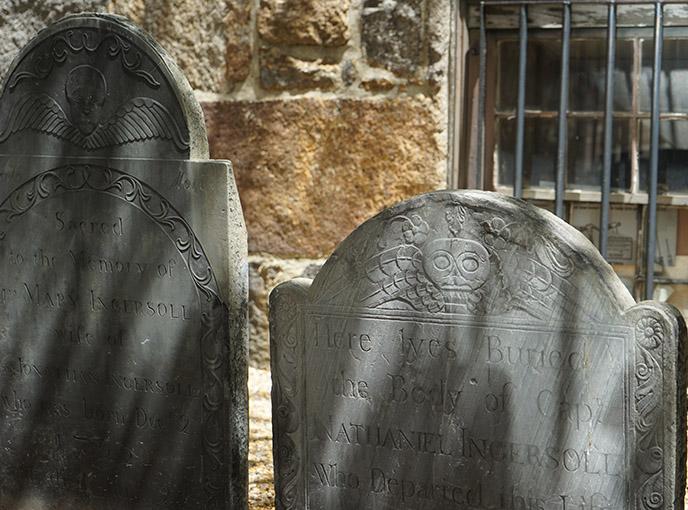 winged skull tombstone salem church grave
