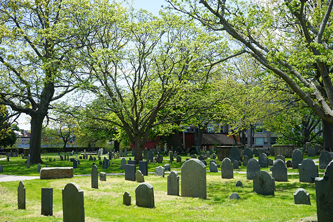 The Old Burying Point Cemetery oldest salem cemetery graveyard tombs