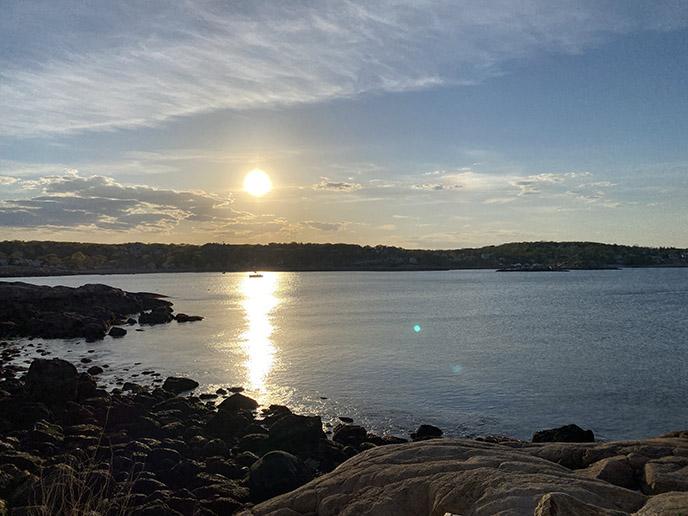 Rockport Massachusetts beach sunset ocean