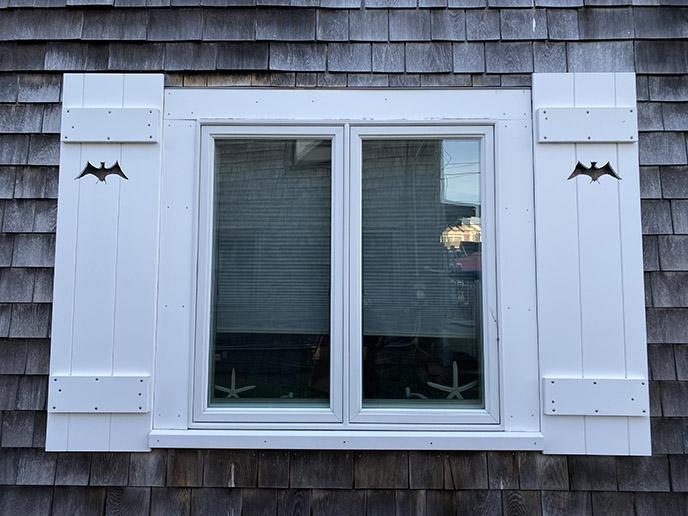 bat window panes new england spooky house