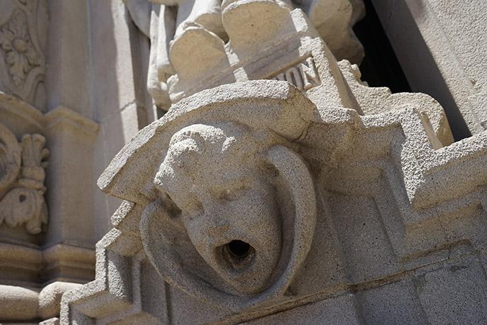 museum of us building sculptures exterior facade