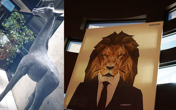 andaz san diego zoo animals art sculptures