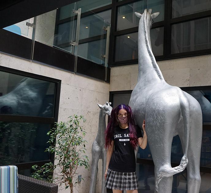andaz san diego giraffe gallery art hotel