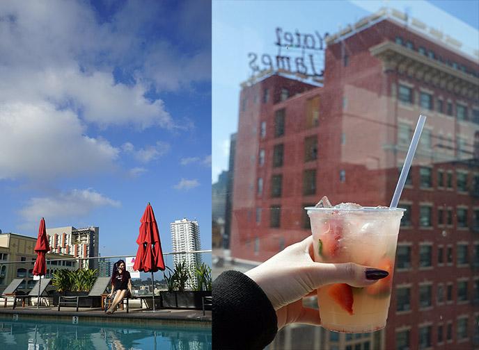 andaz stk rooftop poolside drinks cocktails