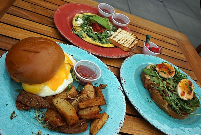 andaz rooftop menu roof food brunch breakfast