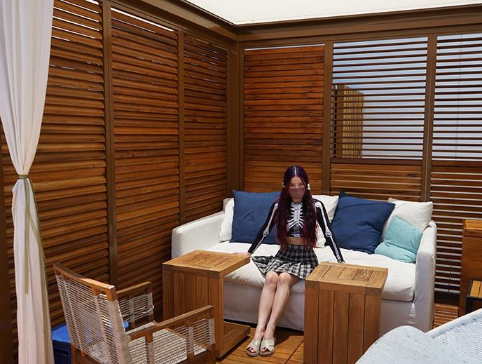 cabana beach lounge cabin alohilani pool