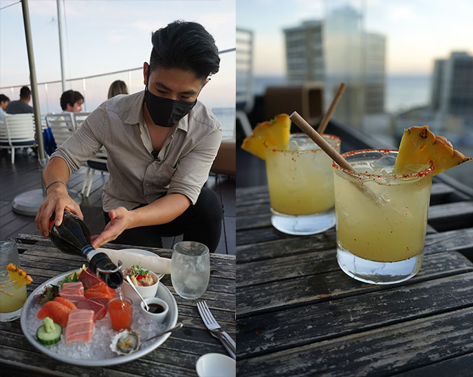 sky waikiki sushi raw bar restaurant